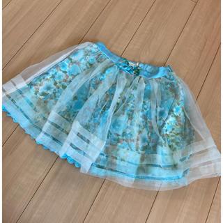 リズリサ(LIZ LISA)のリズリサ チュールスカート ブルー(ミニスカート)