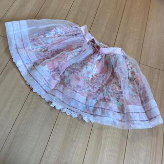 リズリサ(LIZ LISA)のリズリサ チュールスカート ピンク(ミニスカート)