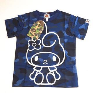 アベイシングエイプ(A BATHING APE)のキッズ APE×マイメロディ Tシャツ 【正規品・新品】(Tシャツ/カットソー)