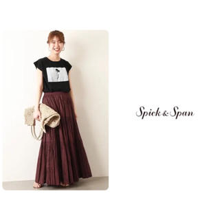 Spick and Span - 2019SS  Spick & Span コットンマキシスカート 新品