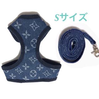 新品☆犬 ハーネス☆リードセット☆モノグラム☆Sサイズ