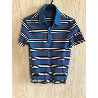 バーバリーブラックレーベル(BURBERRY BLACK LABEL)のバーバリーブラックレーベル ボーダーポロシャツ サイズ2 中古(ポロシャツ)