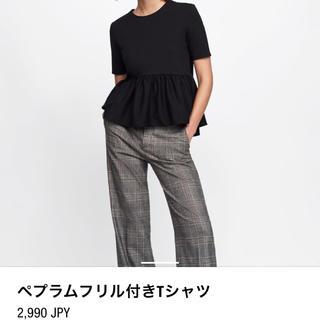 ZARA - ZARA # ペプラムフリル Tシャツ