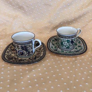 ミカサ(MIKASA)のミカサ コーヒーカップ&ソーサー 2客 中古(グラス/カップ)