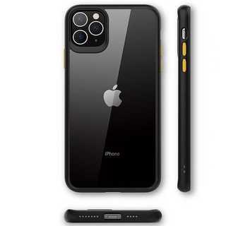 バンパーカラー iPhone 11 スマホカバー 黒色 クリアケース
