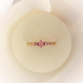 スタージュエリー(STAR JEWELRY)のピンクサファイア フラワーピンキーリング(リング(指輪))