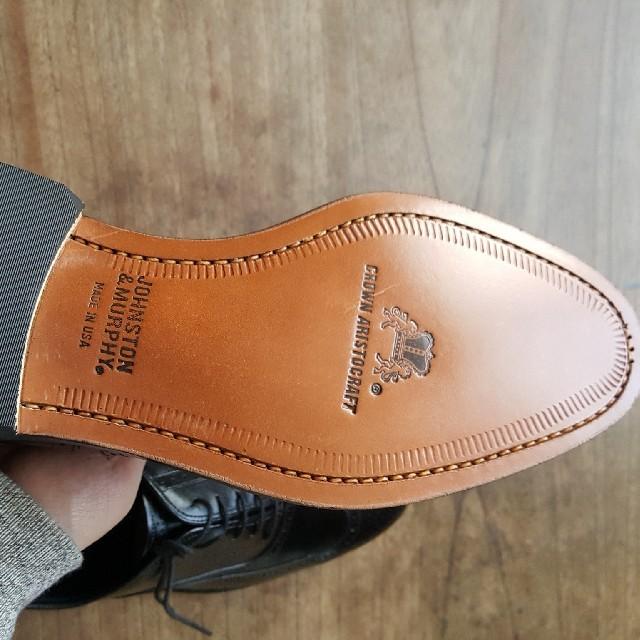 Alden(オールデン)の(USA製 未使用)ジョンストン&マーフィー ウイングチップ サイズ7D メンズの靴/シューズ(ドレス/ビジネス)の商品写真
