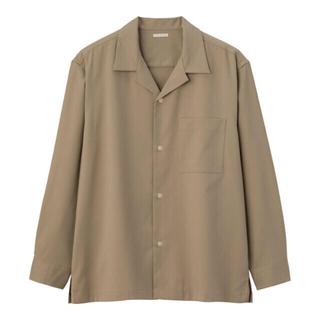 GU - 値下げ‼️完売‼️GU ジーユー オープンカラーシャツ 長袖 ベージュ M