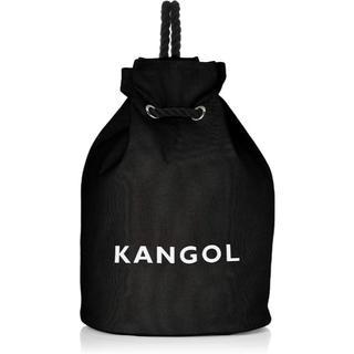 カンゴール(KANGOL)の新品送料無料KANGOL(カンゴール)巾着 リュック ボンサック ブラック(リュック/バックパック)