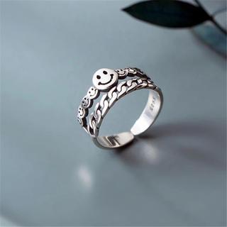 数点のみ再入荷!Silver925 -Smile ring-