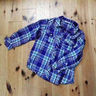 サンカンシオン(3can4on)の〈120〉サンカンシオン 長袖 チェックシャツ(ブラウス)