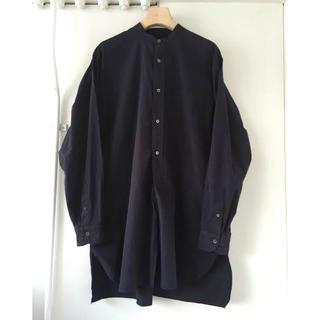 COMOLI - 17ss comoli サイズ3 バンドカラーシャツ ネイビー コモリ