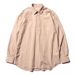 COMOLI - 18ss comoli サイズ4 サンドピンク コモリシャツ