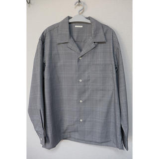GU - GU オープンカラーシャツ(長袖)(グレンチェック)