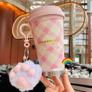 Starbucks Coffee - ストラップ付!桜 猫 台湾スターバックス マグカップ ステンレスタンブラー 肉球