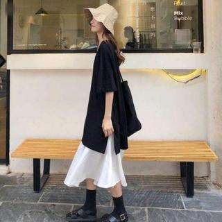ZARA - 半袖のTシャツ ロング丈スカート ワンピース ゆったりサイズ 即日発送