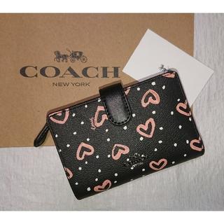 コーチ(COACH)の週末セール❗【2020 春夏 最新作❗】 コーチ財布  ブラック×ピンクマルチ(財布)
