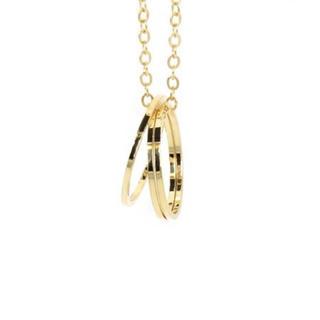 トリプルシャープリングネックレス【ゴールド】(ネックレス)