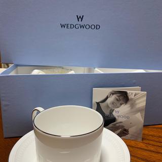 ウェッジウッド(WEDGWOOD)の【新品】ウェッジウッド コーヒーカップ ソーサー 2客(グラス/カップ)
