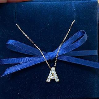 アーカー(AHKAH)のAHKAH プルミエトワール  イニシャル ネックレス ほぼ未使用 アーカー(ネックレス)