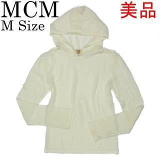 エムシーエム(MCM)のMCM 美品 #M シースルー 長袖 フード プルオーバー パーカー トップス(パーカー)