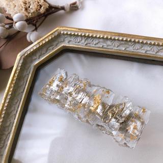 カスタネ(Kastane)のフローズンヘアクリップ(type:gold)(バレッタ/ヘアクリップ)