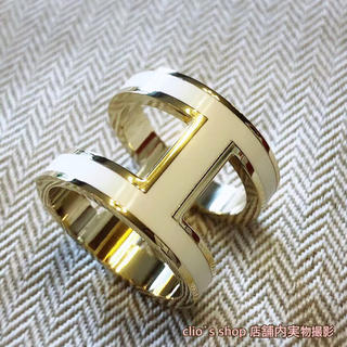 Hマーク スカーフリング  ペンダント (革紐付き)(ネックレス)