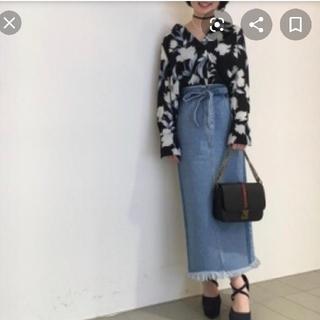 COCO DEAL - ココディール リボンベルト付きロングデニムタイトスカート