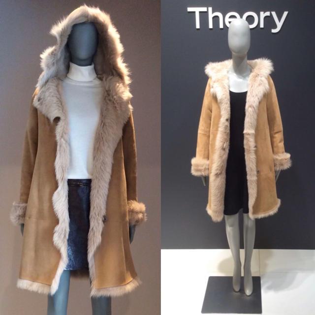 theory(セオリー)の定価41万円 セオリー 最上質 ムートン コート P レディースのジャケット/アウター(ムートンコート)の商品写真