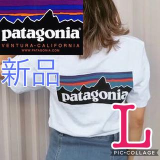 patagonia - Patagonia パタゴニア P-6ロゴ Tシャツ ホワイト 白色 半袖 L