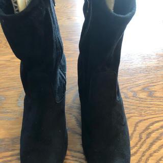 ✴︎レディース 黒スエード ブーツ Mサイズ(ブーツ)