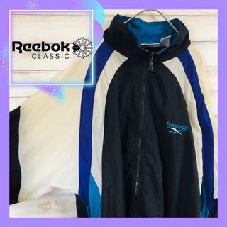 Reebok - reebok リーボック ナイロンジャケット 90s  刺繍ロゴ 古着