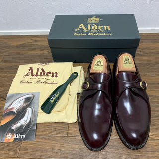 Alden - オールデン モンクストラップ バーガンディ コードバン 8 954