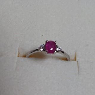 ❇️激安❇️ピンクルビー&キュービックジルコニアの指輪(11号)(リング(指輪))