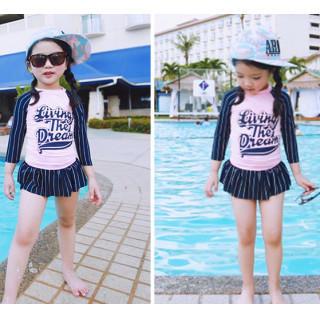 【XL】120サイズ 新品 女の子 水着 セパレート ラッシュガード パンツ