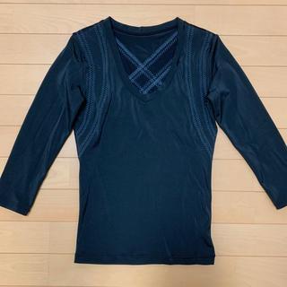 中古品『グラントイーワンズ』ビビ グラント パンプ 7分袖 ブラック ブルー M