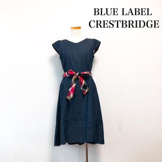 BURBERRY BLUE LABEL - BLUE LABEL CRESTBRIDGE 膝丈 ワンピース デニム 春 夏