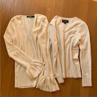 POLO RALPH LAUREN - ラルフローレン のフリル袖ニット バナナリパブリックの白セーター