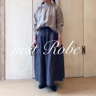 nest Robe - * nest Robe * 2017  リネンタックキュロット  ガウチョパンツ