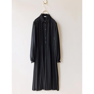 Santa Monica - vintage 格子柄 プリーツ シフォン ワンピース ドレス ヴィンテージ