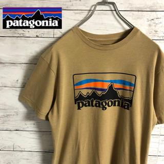 patagonia - 【激レア】パタゴニア☆ビッグロゴ 大人気色 ベージュ 半袖Tシャツ メキシコ製