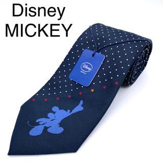 ディズニー(Disney)の新品タグ付き  ディズニー ミッキー ネクタイ 中国製 シルク100%(ネクタイ)