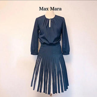Max Mara - Max Mara マックスマーラ プリーツ ワンピース フレア ブラウス