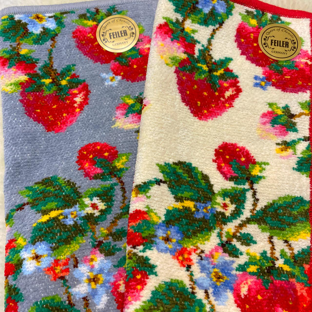 FEILER(フェイラー)のフェイラー ハンカチ2枚セット🍓🍓 レディースのファッション小物(ハンカチ)の商品写真