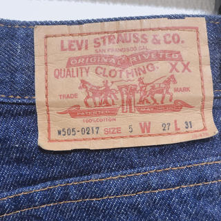 Levi's - リーバイス デニム w505-0217 ハイウエスト ストレート レディース