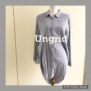 Ungrid - アングリッド ストライプシャツワンピース