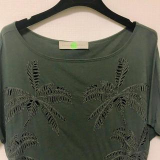 ステラマッカートニー(Stella McCartney)のStella Mccartney ステラマッカートニー パーム柄刺繍Tシャツ(Tシャツ(半袖/袖なし))