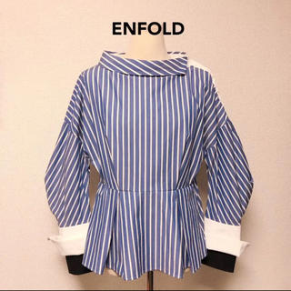 ENFOLD - 美品 ENFOLD エンフォルド ブラウス シャツ 配色 オシャレ