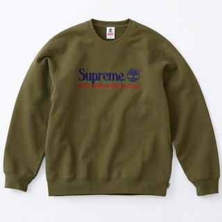 Supreme - XL オリーブ supreme timberland crewneck 新品