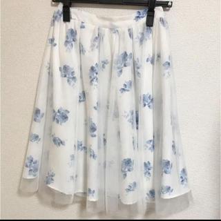 INGNI - INGNI イング 花柄チュールスカート